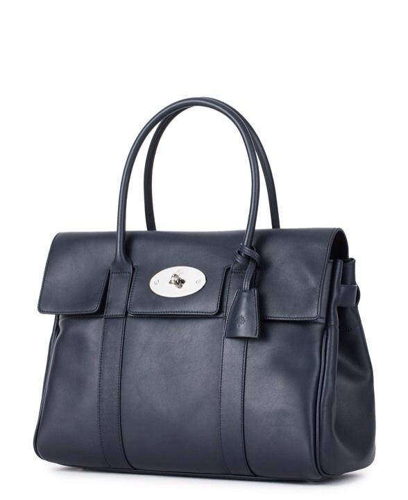 7e5548c7aac3 DETAILS. Mulberry Bayswater in soft tan leather. Colour  Midnight Blue